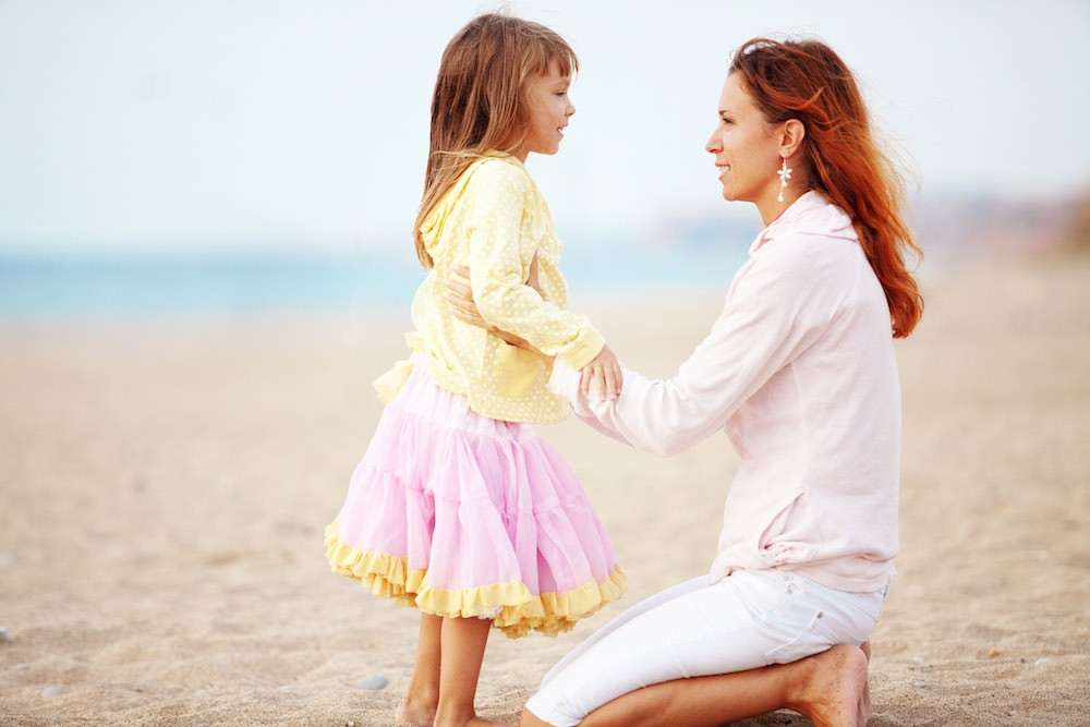 parent talking with child